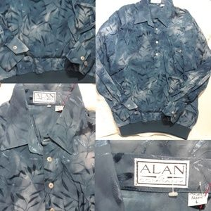 Vintage Alan & Company Leafy Embroidered Shirt- L